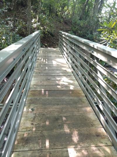 New bridge over Chestnut Creek at the Blue Ridge Music Center