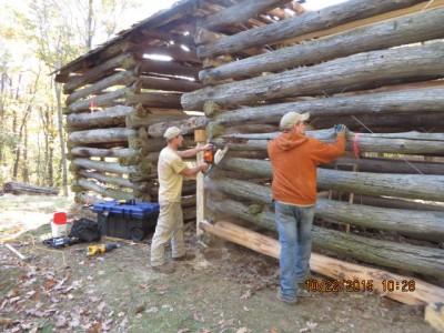 Johnson Farm barn restoration
