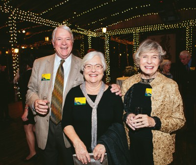 Lou and Sara Bissette with Becky Anderson at the Blue Ridge Parkway Foundation's 20th anniversary celebration at Biltmore on November 9.