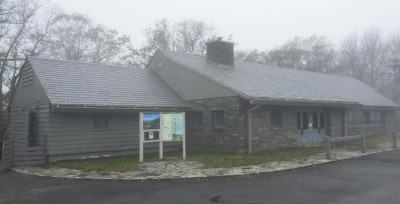 A new roof at Bluffs Restaurant on the Blue Ridge Parkway.