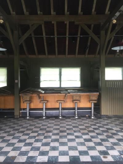 Interior of Bluffs Restaurant