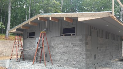 New shower facility at Price Park Campground on the Blue Ridge Parkway