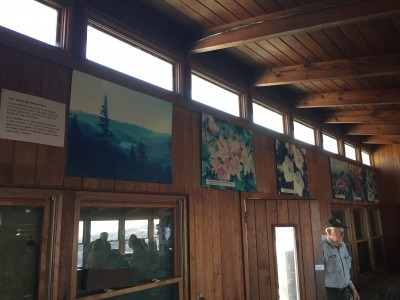 Faded photographs at Craggy Visitor Center