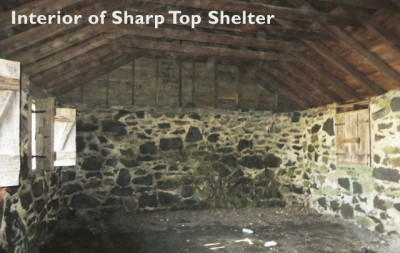 Sharp Top Shelter interior