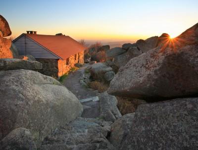 Sharp Top Shelter at Peaks of Otter, milepost 86