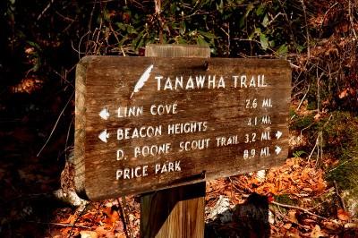 Tanawha Trail sign