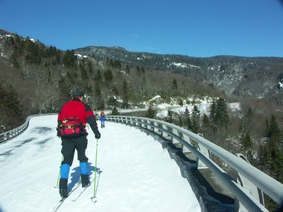 Skiing the Linn Cove Viaduct