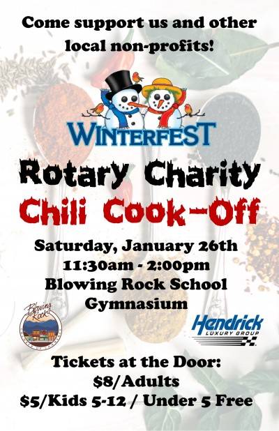 WinterFest Chili Cook-off poster
