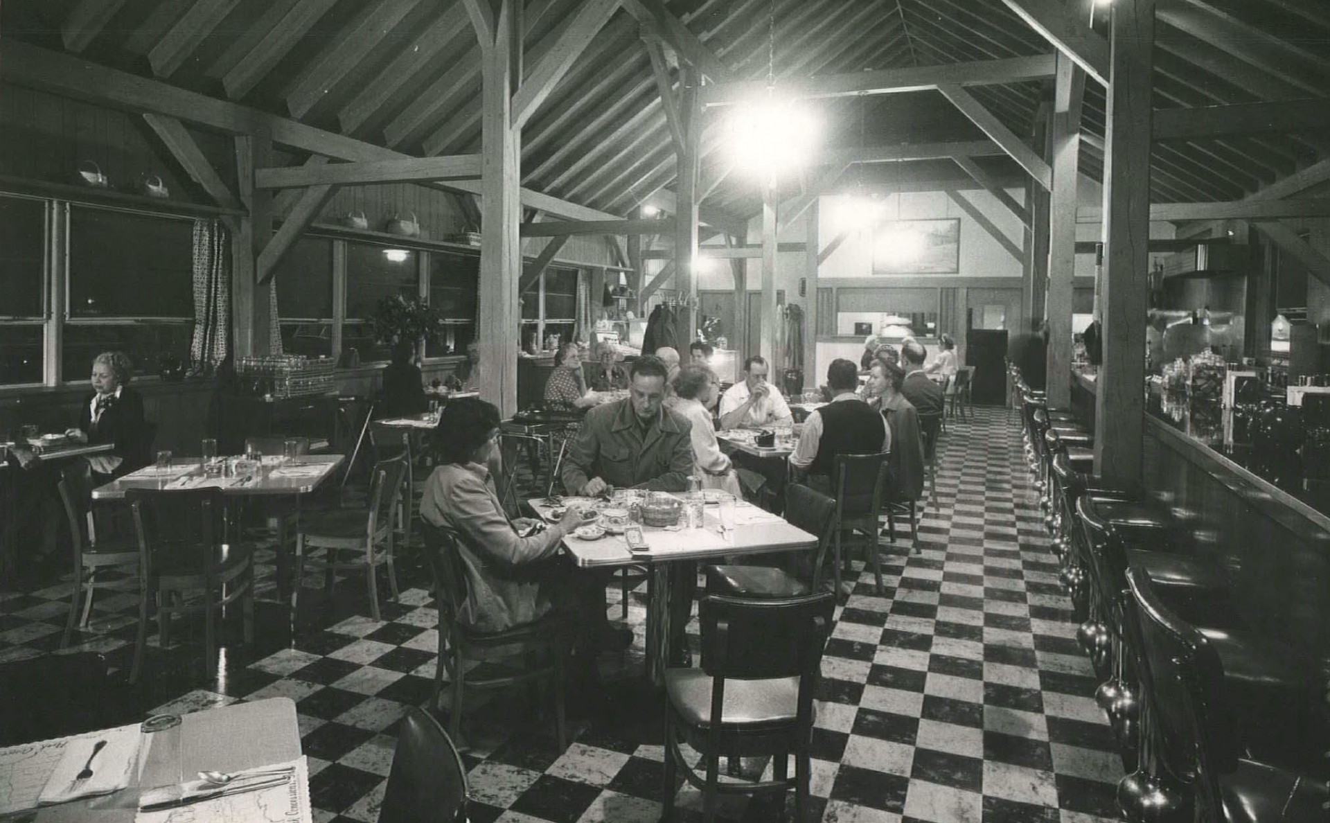 Customers at The Bluffs Restaurant in 1952.