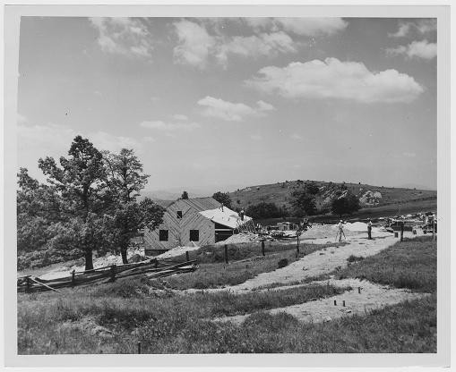 Bluffs Lodge at Doughton Park opened in 1949.