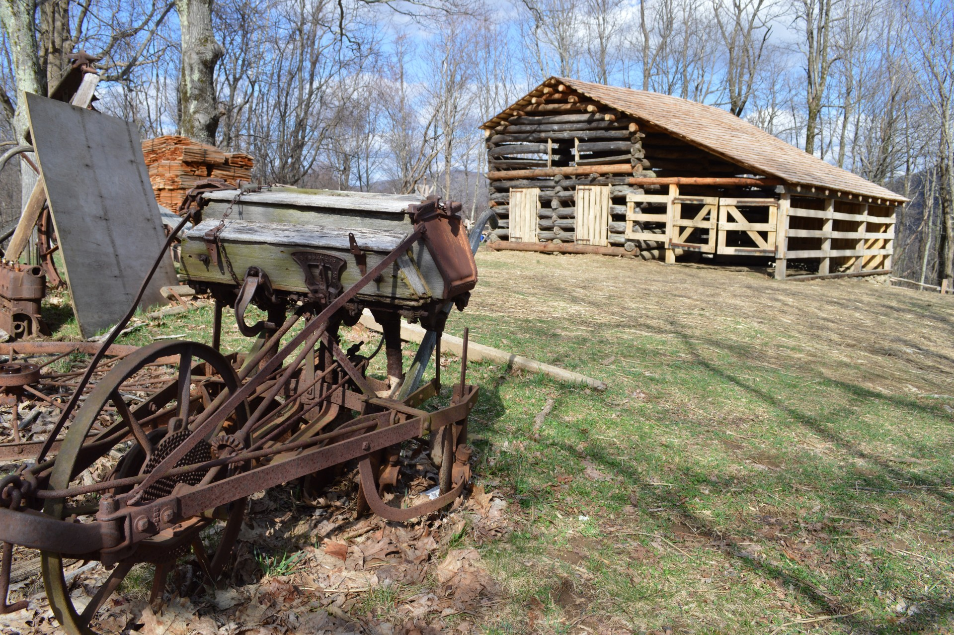 The barn at Johnson Farm at Peaks of Otter on the Blue Ridge Parkway.