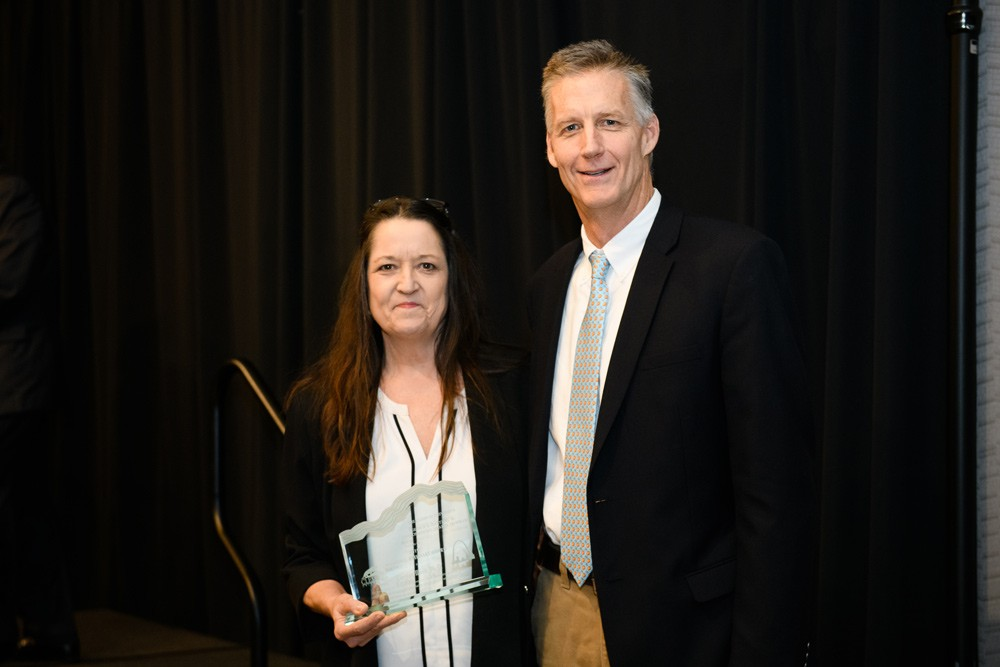 CEO Carolyn Ward  was presented the William C. Everhart Award by Dr. Bob Powell, Director of the Institute for Parks at Clemson.