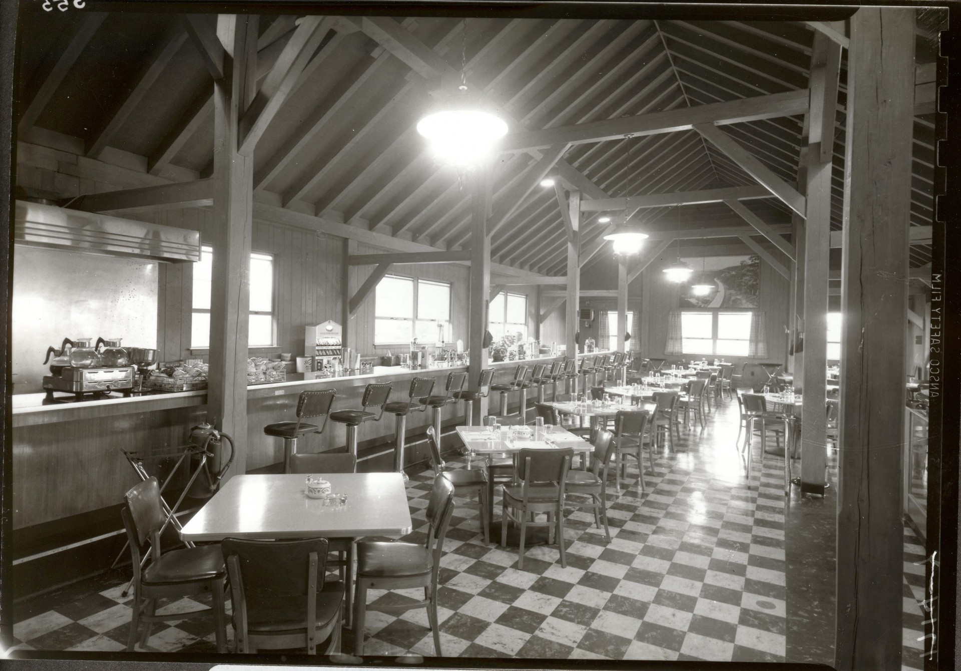 Bluffs Restaurant and Coffee Shop  shown in 1952