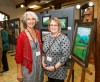 Artists Susan Kokora and Cathy Mandeville at the opening night celebration for Of Valley & Ridge.